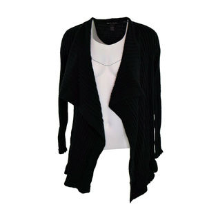 INC Draped Long Sleeve Cardigan Sweater S NWT